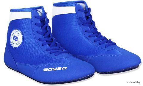 Обувь для борьбы (р. 32; сине-белая) — фото, картинка