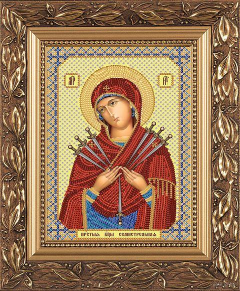 "Вышивка бисером ""Богородица Семистрельная"" (130х170 мм) — фото, картинка"