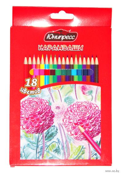 """Цветные карандаши """"Цветы"""" (18 цветов)"""