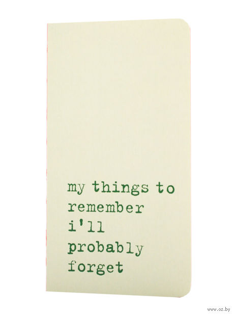 "Записная книжка Молескин ""Chapter. My Things to Remember"" в линейку (карманная; мягкая светло-зеленая обложка)"
