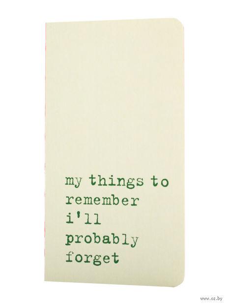 "Записная книжка в линейку ""Chapter. My Things to Remember"" (75х140 мм; светло-зеленая) — фото, картинка"