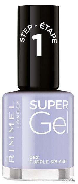 """Гель-лак для ногтей """"Super Gel"""" тон: 82, purple splash — фото, картинка"""