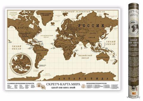 Скретч-карта мира (70х50 см) — фото, картинка