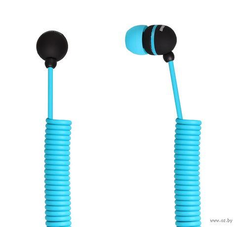 Наушники SmartBuy U.F.O., растягивающийся кабель SBE-2030 (синие)