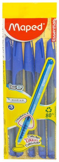 """Набор ручек шариковых синих """"Green Ice"""" (5 шт.) — фото, картинка"""