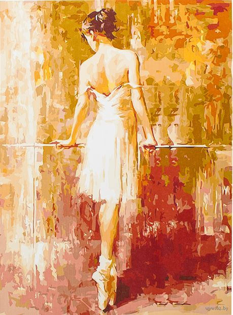 "Картина по номерам ""Балерина у станка"" (400х500 мм)"