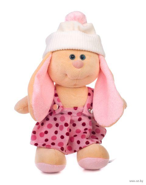"""Мягкая игрушка """"Заяц Катя в шапке"""" (28 см) — фото, картинка"""