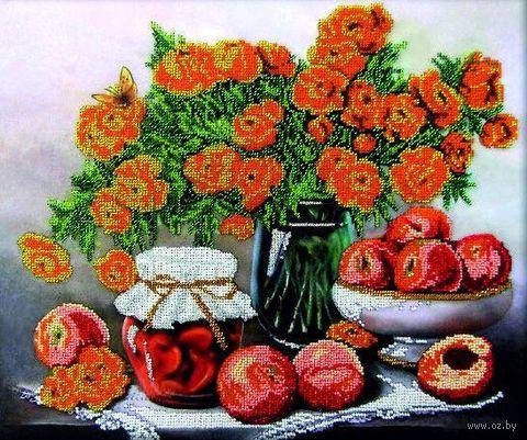 """Вышивка бисером """"Персиковое утро"""" (400х300 мм) — фото, картинка"""