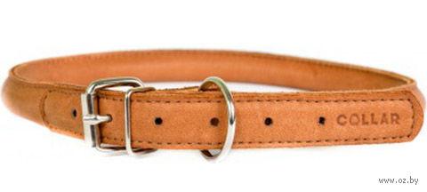 """Ошейник из натуральной кожи """"Collar Soft"""" (39-47 см; коричневый) — фото, картинка"""