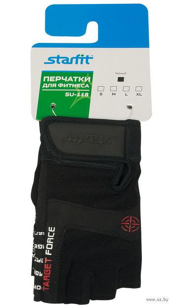 Перчатки для фитнеса SU-118 (S; чёрные) — фото, картинка
