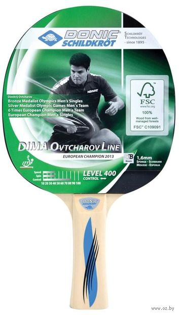 """Ракетка для настольного тенниса """"Schidkroet Ovtcharov 400 FSC"""" — фото, картинка"""