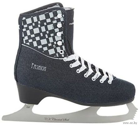 """Коньки фигурные """"Fashion Lux Jeans"""" (р. 33; синие) — фото, картинка"""