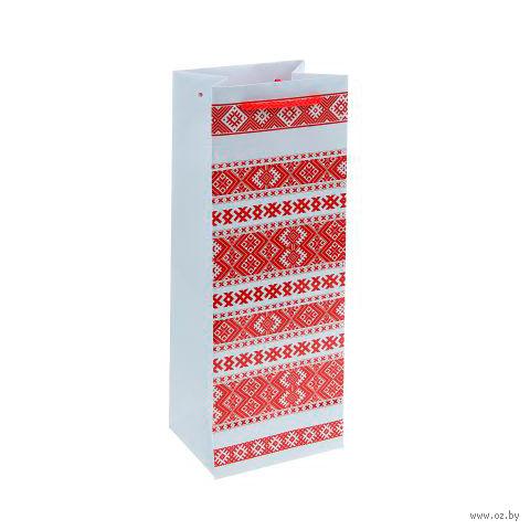 Пакет бумажный подарочный (13х36х10 см; арт. BB101382)