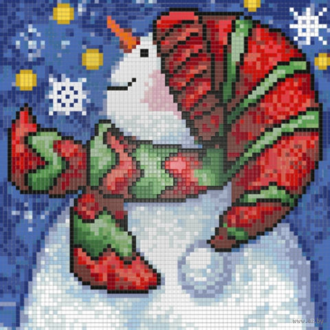 """Алмазная вышивка-мозаика """"Новогодний снеговик"""""""