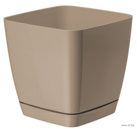 """Цветочный горшок """"Тоскана"""" (17х17х16,5 см; кофе латте) — фото, картинка"""
