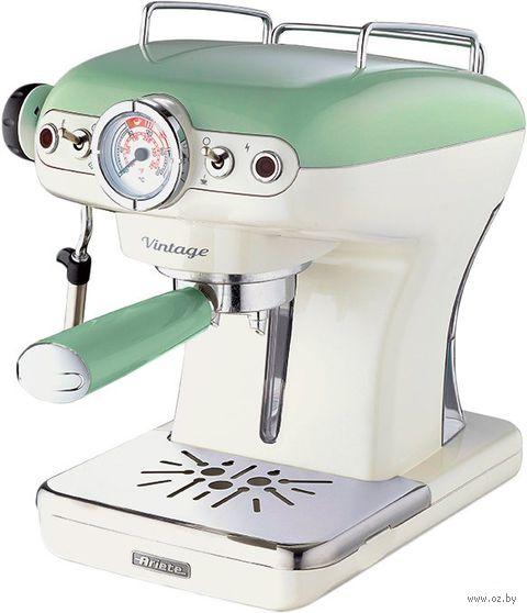 Кофеварка эспрессо Ariete 1389 Vintage (зеленый) — фото, картинка