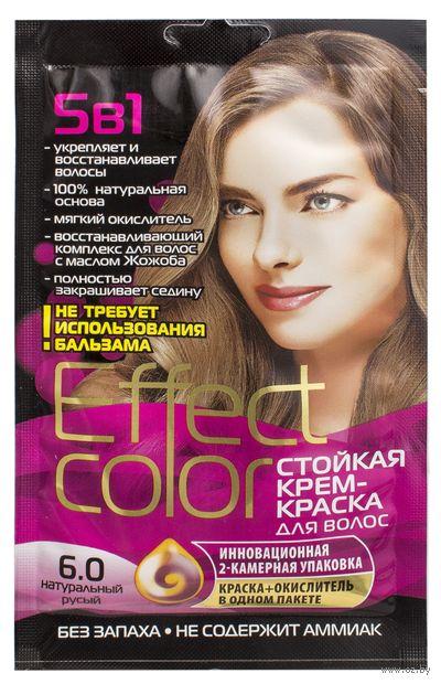 """Крем-краска для волос """"Effect Сolor"""" (тон: 6.0, натуральный русый) — фото, картинка"""