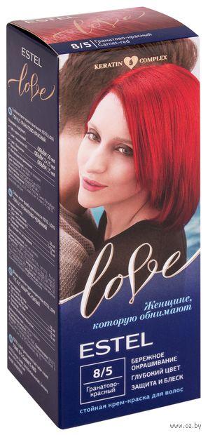 """Крем-краска для волос """"Estel Love"""" (тон: 8/5, гранатово-красный) — фото, картинка"""