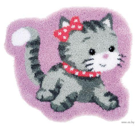 "Вышивка в ковровой технике ""Коврик. Котёнок"" (700х660 мм) — фото, картинка"