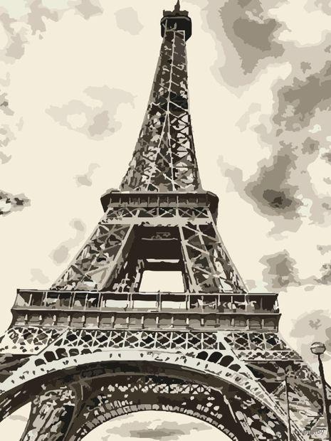 """Картина по номерам """"В Париже"""" (400х500 мм) — фото, картинка"""