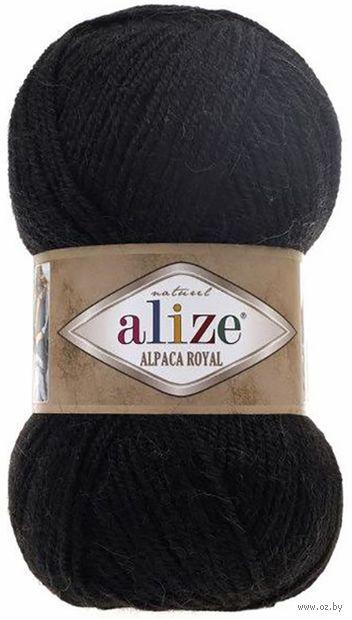 """Пряжа """"ALIZE. Alpaca Royal №60"""" (100 г; 250 м; черный) — фото, картинка"""