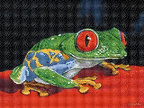 "Алмазная вышивка-мозаика ""Лягушка"" (400х300 мм) — фото, картинка"