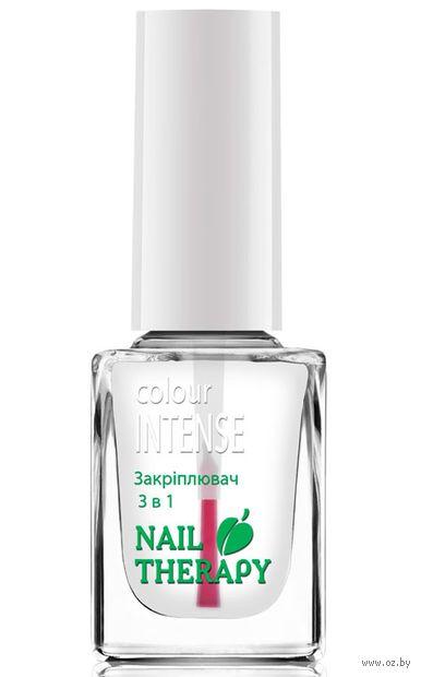 """Верхнее покрытие для ногтей 3в1 """"Nail Therapy"""" тон: прозрачный — фото, картинка"""