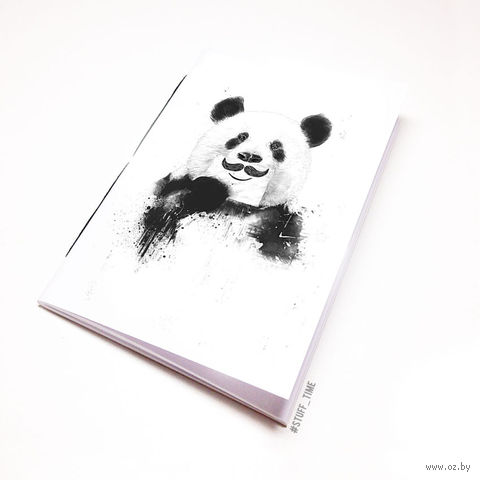 "Блокнот белый ""Панда с усами"" А5 (арт. 506)"