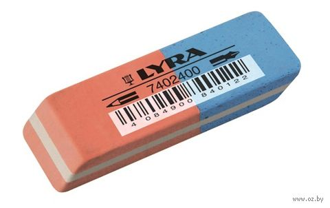 "Ластик ""LYRA Eraser"" красно-синий (55х19х9 мм)"