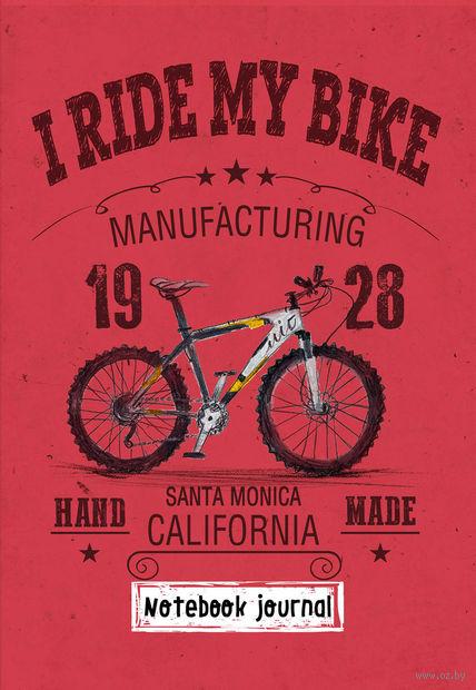 "Блокнот ""I ride my bike. Красный"" (А5) — фото, картинка"