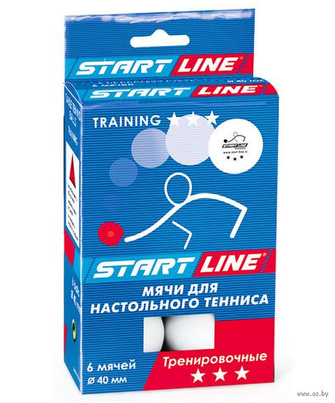 """Мяч для настольного тенниса """"Training"""" (6 шт.; 3 звезды; белый) — фото, картинка"""