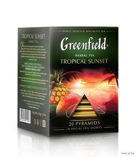 """Чай черный """"Greenfield. Tropical Sunset"""" (20 пакетиков) — фото, картинка"""