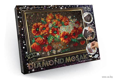 "Алмазная вышивка-мозаика ""Diamond Mosaic. Цветы"" (400х300 мм) — фото, картинка"