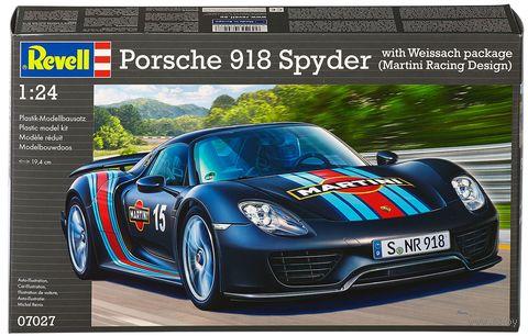 "Сборная модель ""Автомобиль Porsche 918 Spyder ""Weissach Package"" (масштаб: 1/24) — фото, картинка"