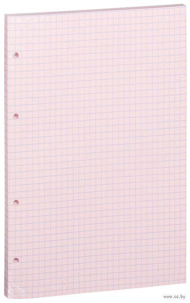 Сменный блок для тетради на кольцах (А5; 80 листов; цвет: розовый)