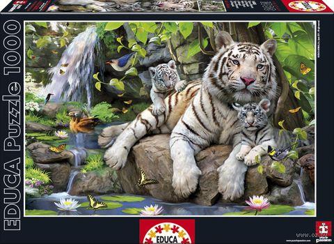 """Пазл """"Белые бенгальские тигры"""" (1000 элементов)"""
