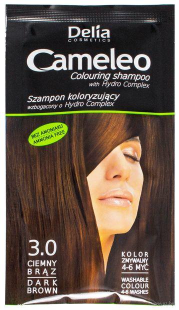 """Оттеночный шампунь для волос """"Cameleo"""" (тон: 3.0; 40 мл) — фото, картинка"""