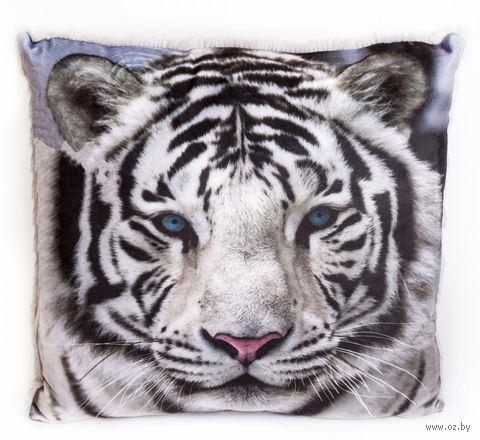 "Подушка ""Бенгальский тигр"" (34х32 см) — фото, картинка"