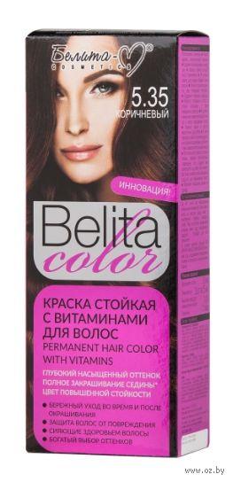 """Краска для волос """"Belita Color"""" (тон: 5.35, коричневый) — фото, картинка"""