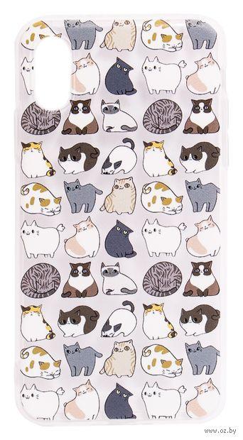 "Чехол для iPhone X/XS ""Коты"" (прозрачный) — фото, картинка"