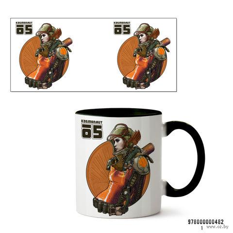 "Кружка ""Kosmonaut"" (черная) — фото, картинка"