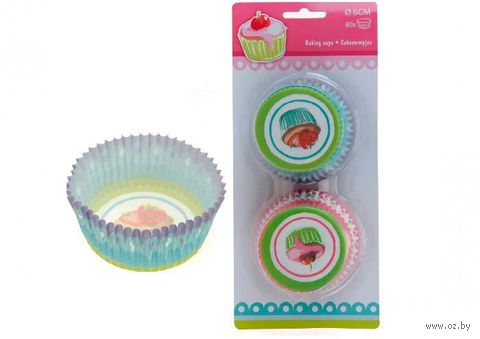 Набор форм для выпекания кексов бумажных (80 шт.; 80 мм)