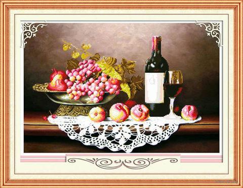 """Алмазная вышивка-мозаика """"Натюрморт с вином"""""""