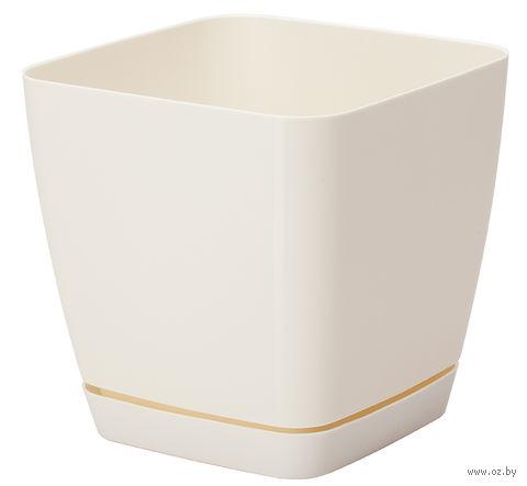 """Цветочный горшок """"Тоскана"""" (17х17х16,5 см; кремовый) — фото, картинка"""