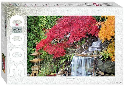 """Пазл """"Водопад в японском саду"""" (3000 элементов) — фото, картинка"""