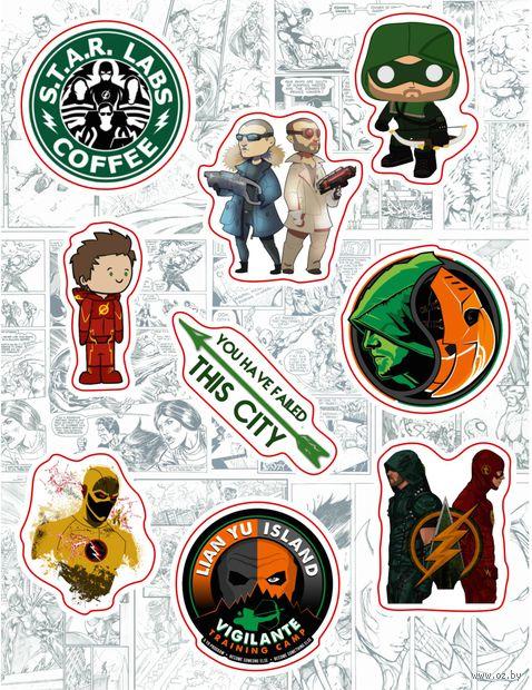 """Набор виниловых наклеек №138 """"Arrow vs. Flash"""""""