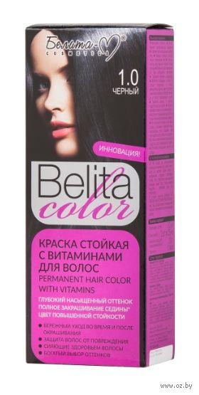 """Краска для волос """"Belita Color"""" (тон: 1.0, черный) — фото, картинка"""