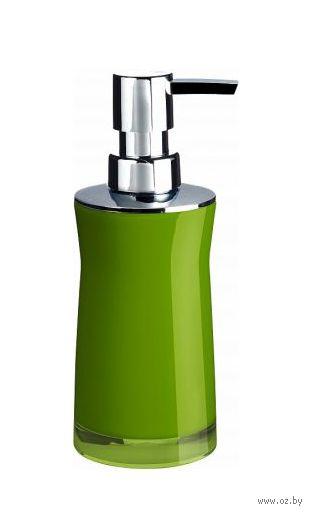 """Дозатор для жидкого мыла акриловый """"Disco Green"""" (65х65х190 мм) — фото, картинка"""
