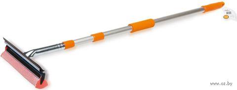 Щётка для автомобиля с водосгоном телескопическая (130 см; арт. AB-G-01) — фото, картинка
