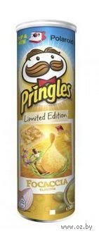 """Чипсы картофельные """"Pringles. Итальянская фокачча"""" (165 г) — фото, картинка"""